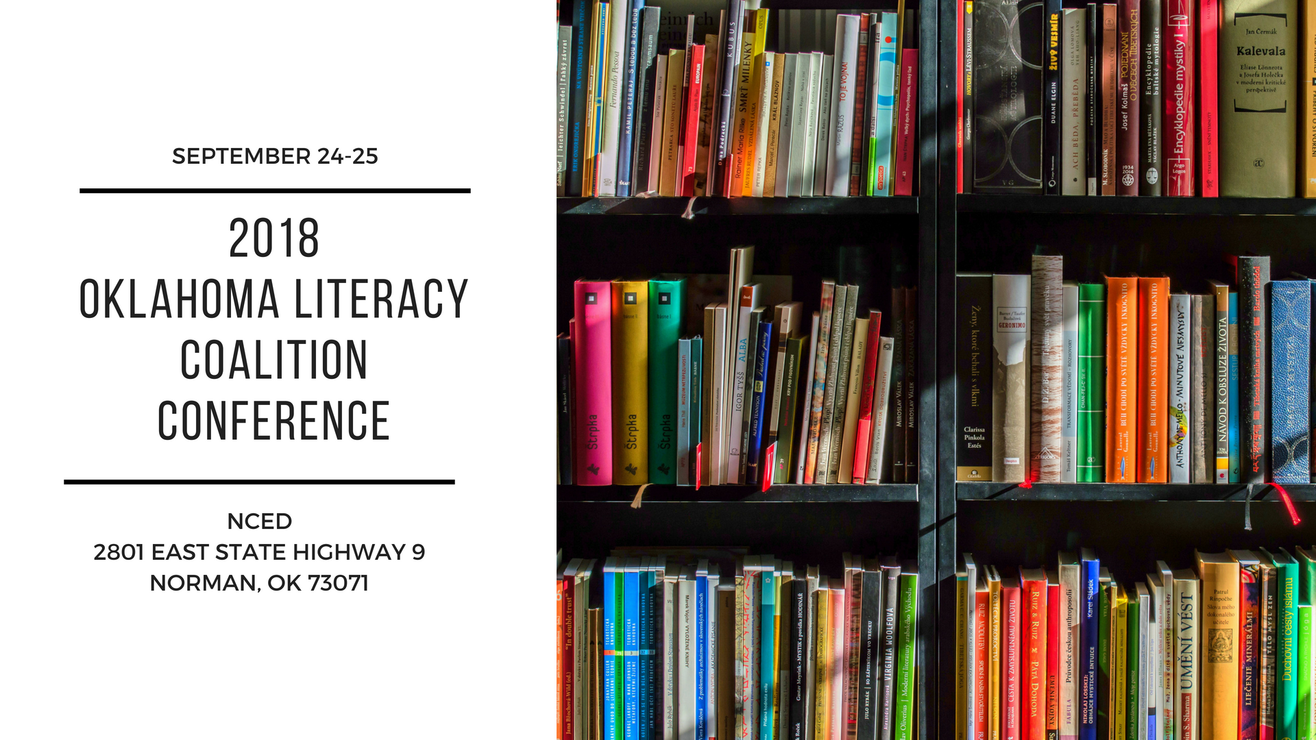 2018 Oklahoma Literacy Coalition Conference.